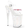Infinity-908MG, 9 Inch Ankle Strap Platform Sandal with Glitters