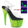 Adore-708NSK, 7 Inch High Heel Ankle Strap Sandal with Skull