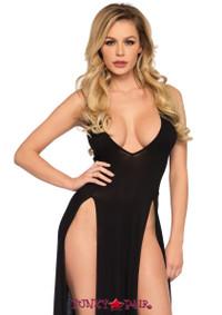 LA88017, Deep V-Maxi Dress