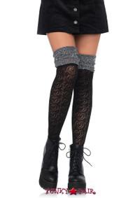 LA6344, Knit Over The Knee Lurex Shimmer Sock