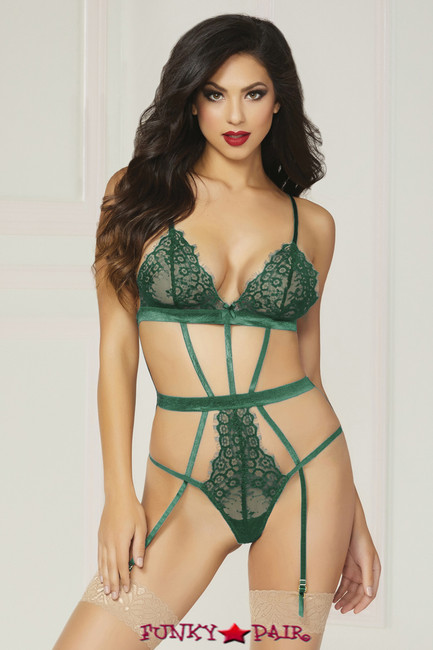 STM-10815, Lace with Satin Teddy
