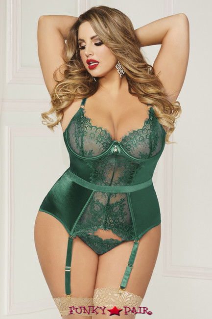 STM-10813X, Lace and Satin Bustier Set