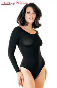 Opaque long sleeved bodysuit * 8578
