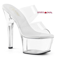 Aspire-602, 6 Inch High Heel Double Band Slide