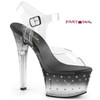 Aspire-608STD, 6 Inch High Heel Ankle Strap with Rhinestone On One Side