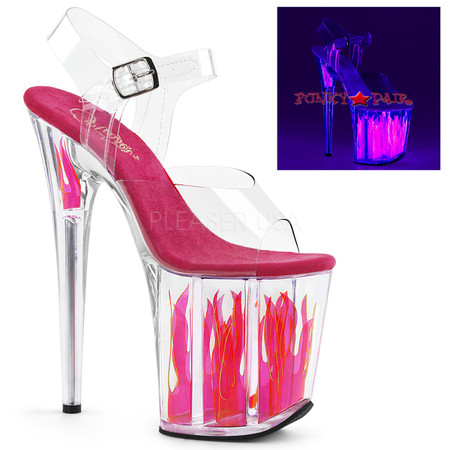 Flamingo-808FLM, 8 Inch Stiletto Heel with Flame