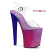 Xtreme-808OMBRE, 8 Inch High Heel with Multi Glitter Ombre Effect