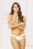 STM-10901, Open Crotch Panty with Criss Cross Detail
