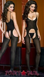 Opaque Suspender Bodystocking * ML-1311