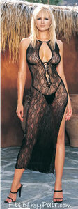 Swirl lace long dress * 8536