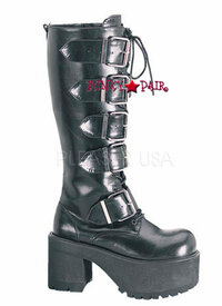 RANGER-318, Goth Punk Straps Boots