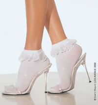 SM-3013 Lace Ruffle Nylon Anklet