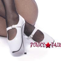BALLET-08WP, 7 Inch High Heel Ballet Fetish Shoes
