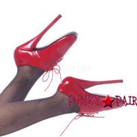 Red 7 Inch High Heel fetish shoes ballet