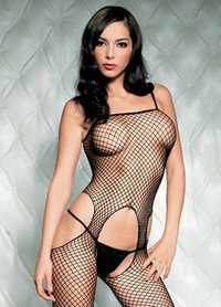 Seamless Net Suspender Bodystocking * 89016