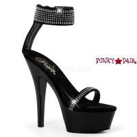 Kiss-270, 6 Inch Ankle Cuff Sandal with Rhinestones