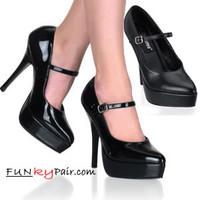 INDULGE-540, 5.25 Inch Stiletto Heel Platform Mary Jane Pump