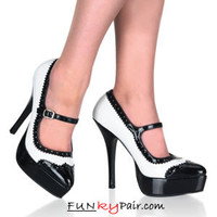 INDULGE-542, Platform Mary Jane Spectator Pump