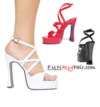 H-Zoe, 5 Inch High Heel with 3/4 Inch Platform Sandal Made by ELLIE Shoes
