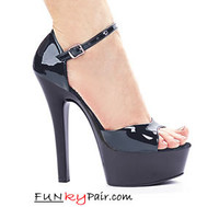 601-Daisy, 6 Inch Stiletto High Heel with 1.75 Closed Back Platform Sandal Made by ELLIE Shoes