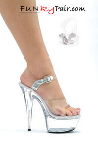 609-Stream, 6 Inch Stiletto High Heel with 1.75 Inch Platform Sandal * 609-Stream Made by ELLIE Shoes