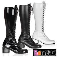 2.5 Inch Block Heel Knee High Boot