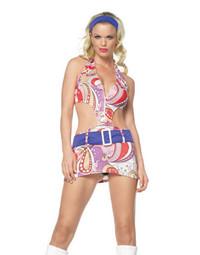 Vintage Paisley Go-Go Girl Costume
