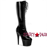 ADORE-2023, 7 Inch Lace up Knee High Boots