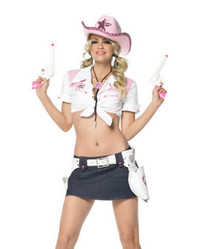 sexy cowgirl cowboy costumes 53048 Sexy Pink Cowgirl Costume