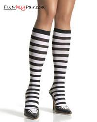 5577, Striped Knee High Stockings