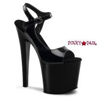 TABOO-714, 7.5 Inch Heel Ankle Strap Sandal