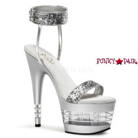 ADORE-778LN, 7 Inch Stiletto Heel Lined Bottom Sandal with Ankle Cuff