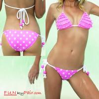 Polka dot Bikini with Panty Bottom Swimwear *61040