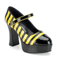Buzz-66, Bumble Bee Platform Maryjane Shoes