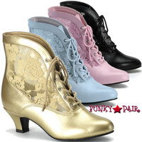 2 Inch High Heel Lace Victorian Ankle Boot * DAME-05