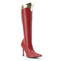 WONDER-130, 3.75 Inch Stiletto Heel Super Hero Boot