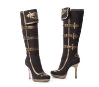 LA426-ANNA, 4.5 Inch Knee High Heel Pirate Boot