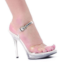 502-Brook, 5 Inch High Heel Clear Sandal  **OUT OF STOCKING ** Made by ELLIE Shoes