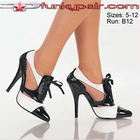 Seduce-458, 5 Inch High Heel Gangster Pump