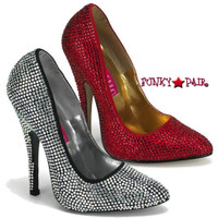 Scandal620R, 5.5 Inch High Heel with Rhinestoned Pump