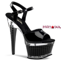 ILLUSION-659, 6.5 Inch Heel Ankle Strap Shoes
