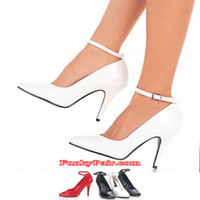 Vanity-431, 4 Inch High Heel White Pumps