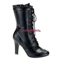 Tesla-102, Steam punk calf Women gothic boots Mady By Demonia