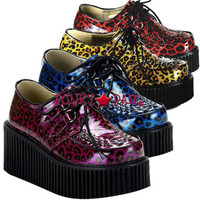 Creeper Shoes with Cheetah Print Made by Demonia