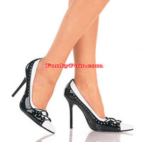 Milan-09, Two Tone Retro Pump Made By PLEASER Shoes