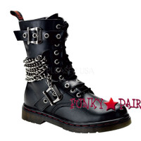 Disorder-204, combat boots with and chain