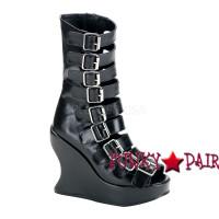 BRAVO-66 * Lolita Punk Fetish Wedge Women gothic boots Mady By Demonia