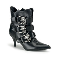 FURY-06, witchy ankle Women Punk boots Mady By Demonia