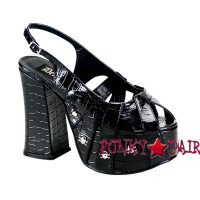 Goth Punk Sandal with Skulls Studs Made by Demonia