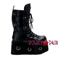 FURIOUS-201, Goth calf Demonia Gothic  Boots